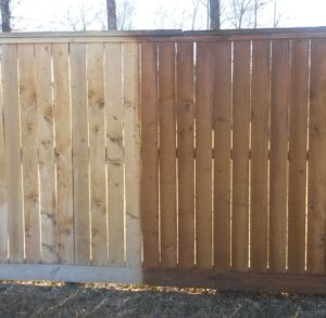 fence sealing in the woodlands