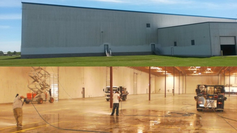 Commercial Power Washing Ware House Washing Woodlands